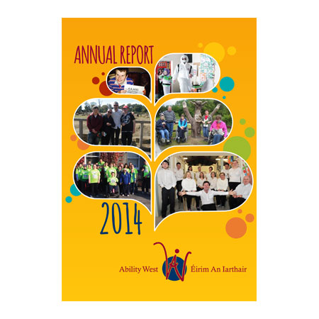 annual report graphic design printing galway ability west