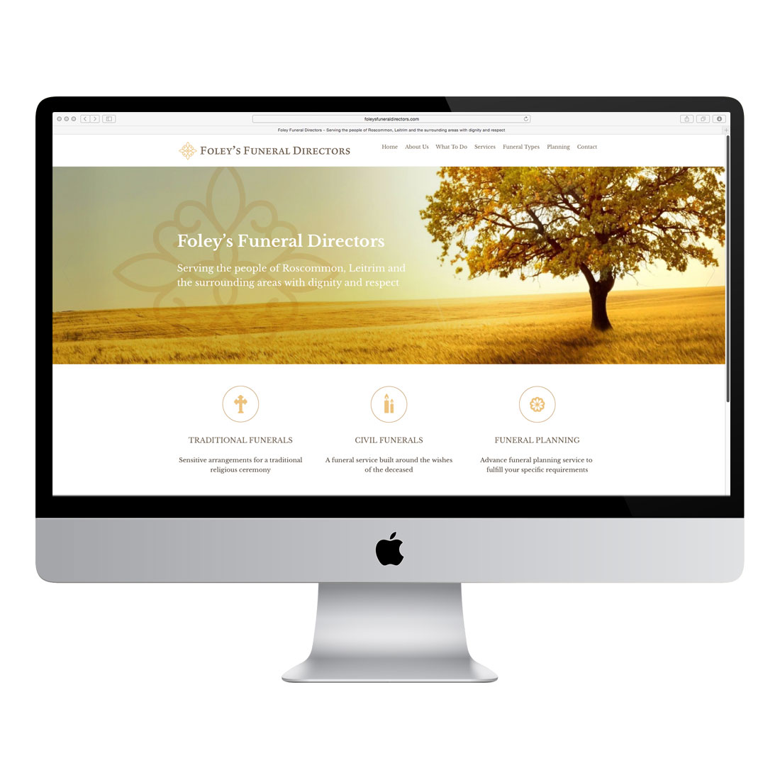 Foley 39 s funeral directors website design swift print design - Funeral home web design ...