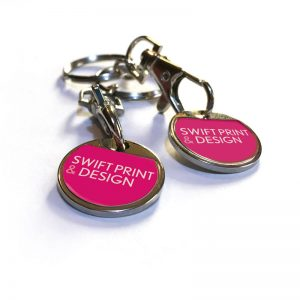 Swift trolley tokens key rings