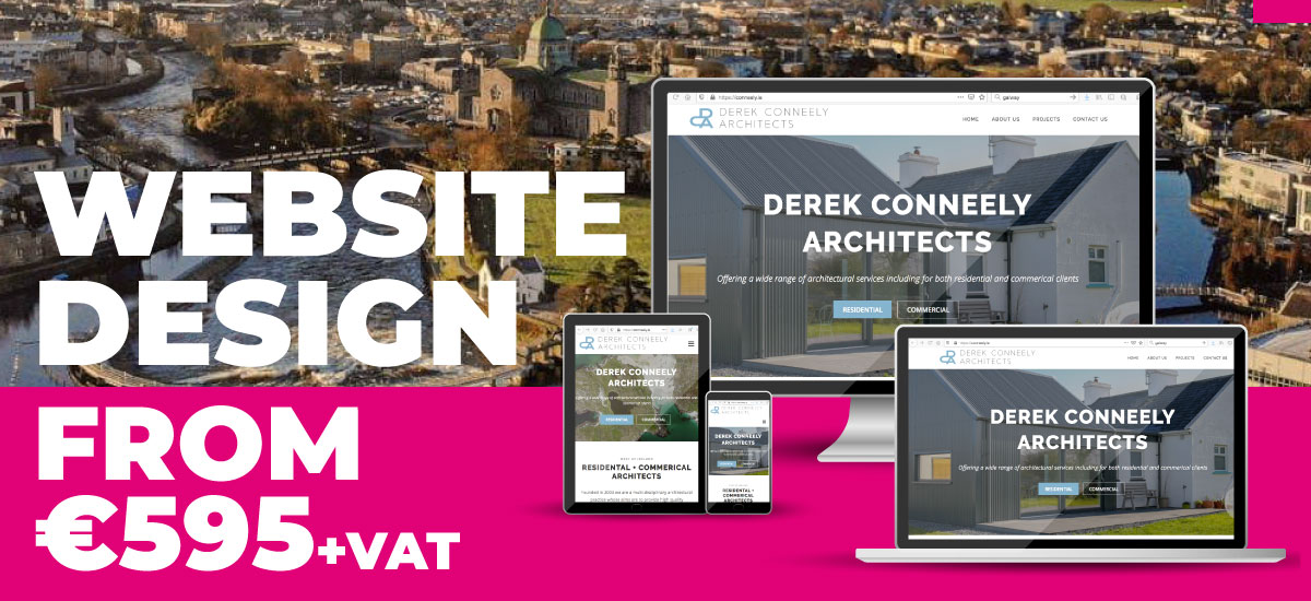 website design from 595 euro plus vat