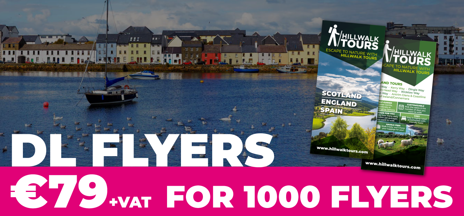 DL flyer printing galway €79 for 1000 flyers