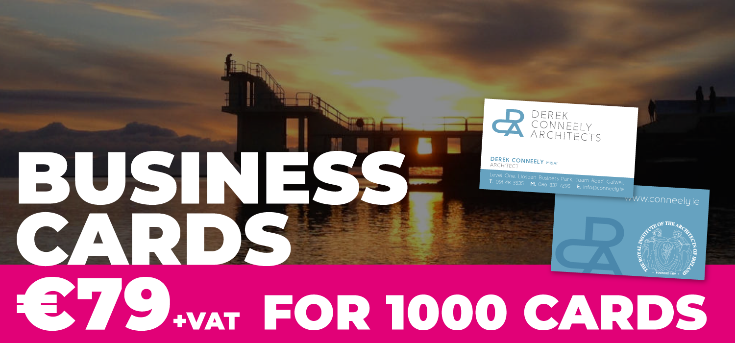galway business card printing €79 for 1000 cards
