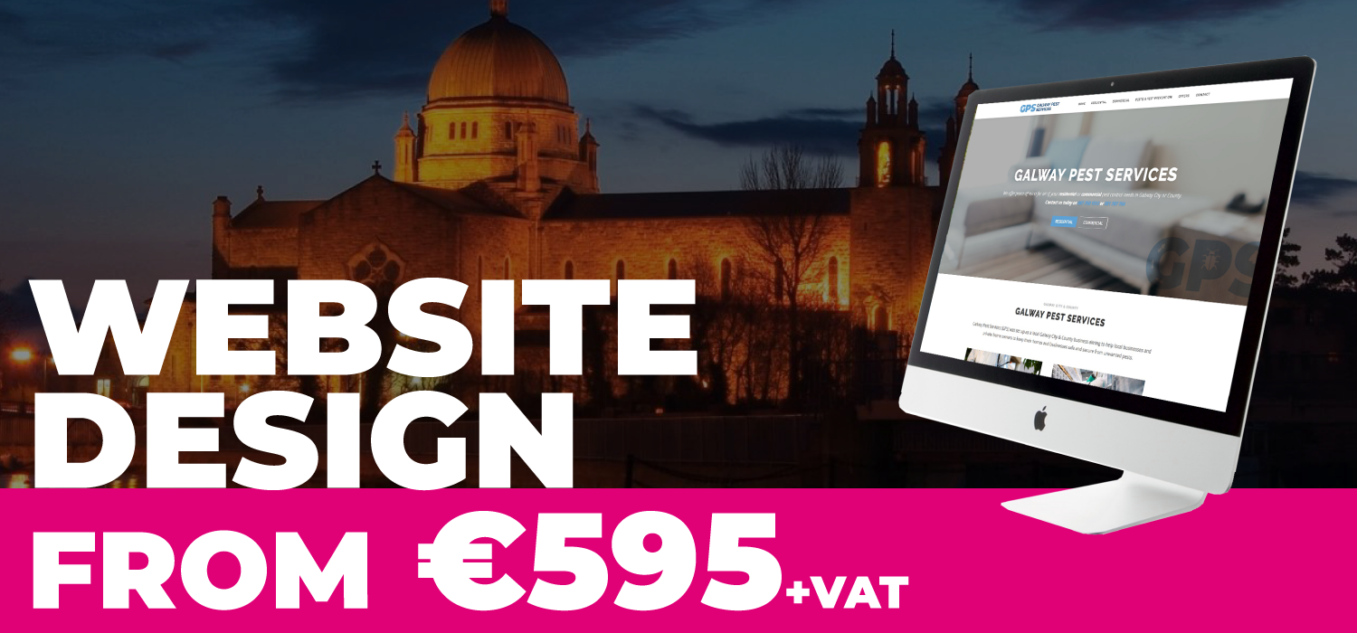Galway web design from €595