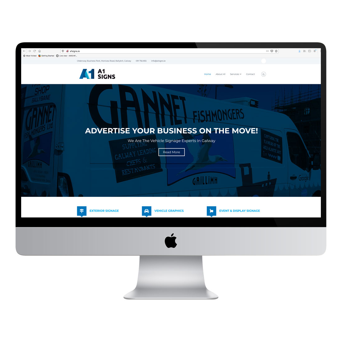 A1 signs website design