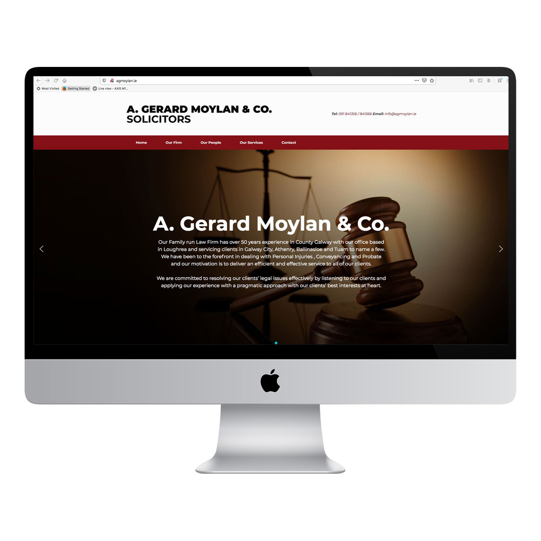 AG Moylan website design