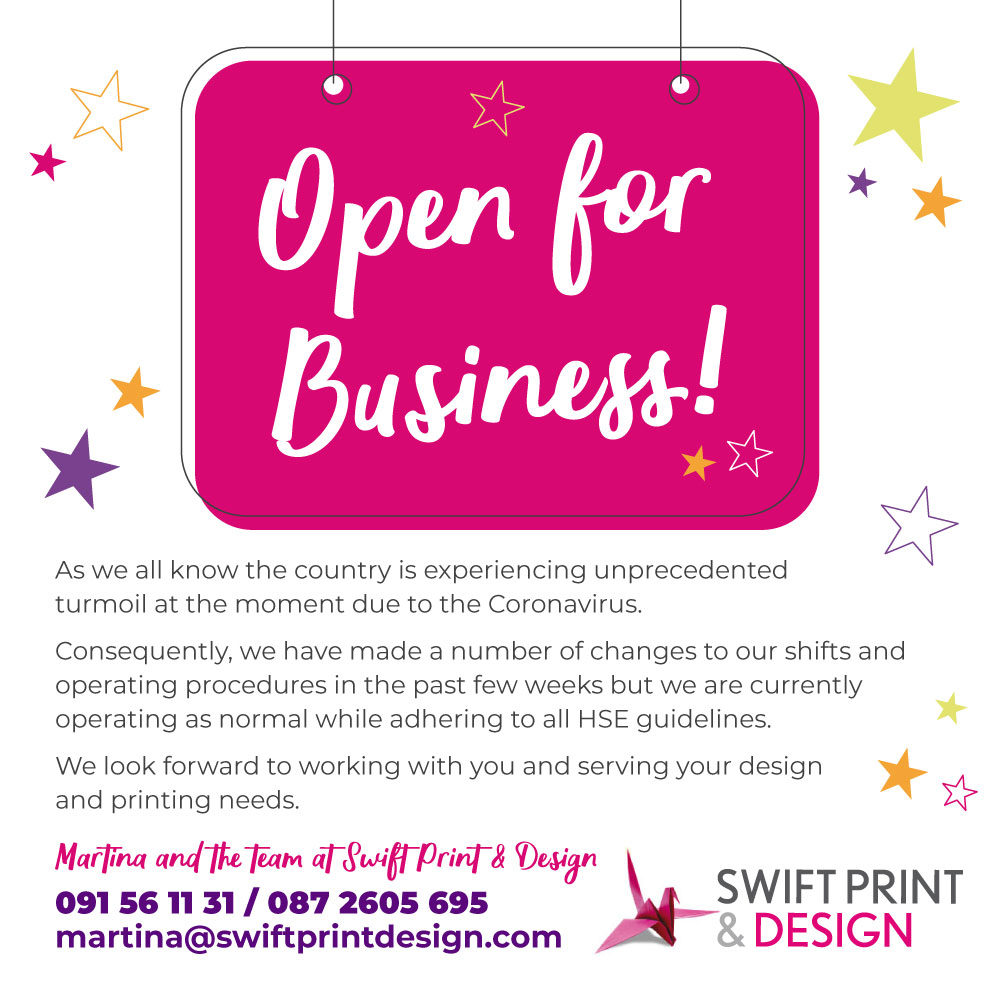 Swift Open for Business