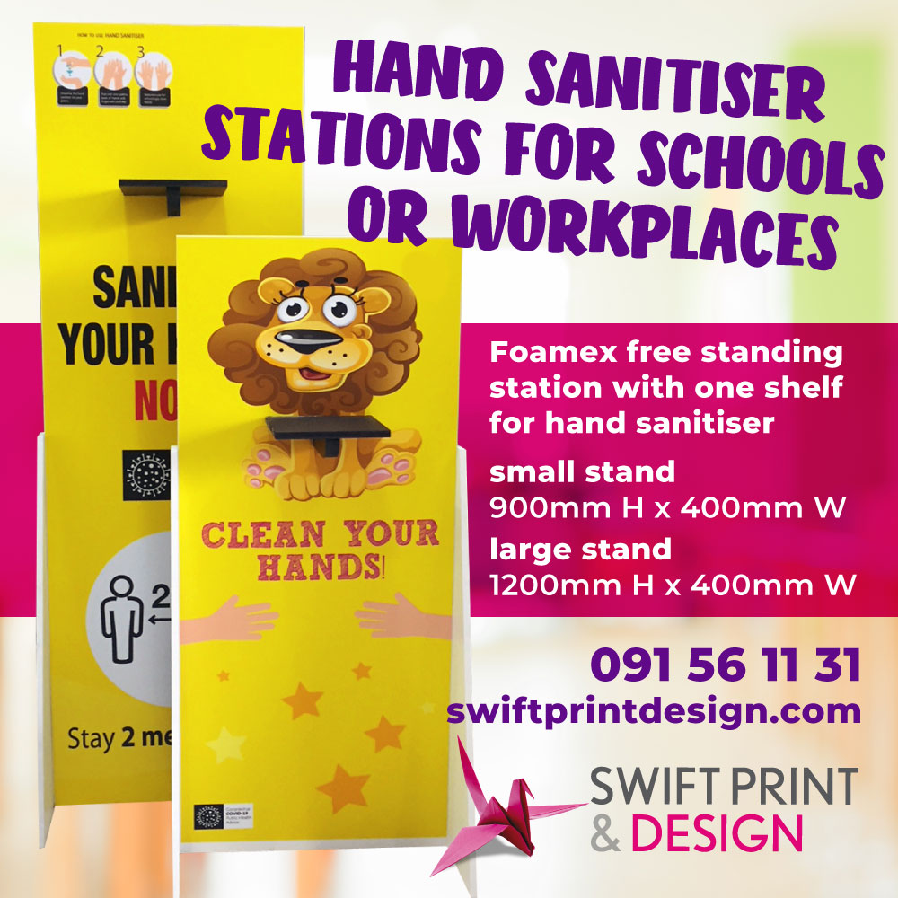 hand sanitiser stations for schools or workplaces