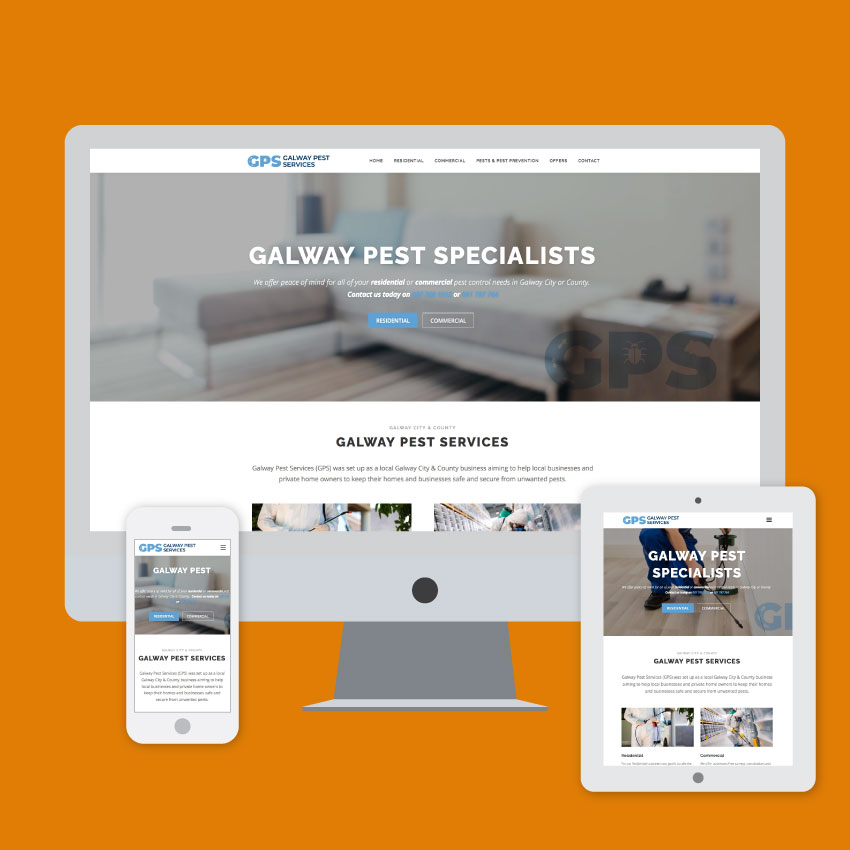Galway Pest services website
