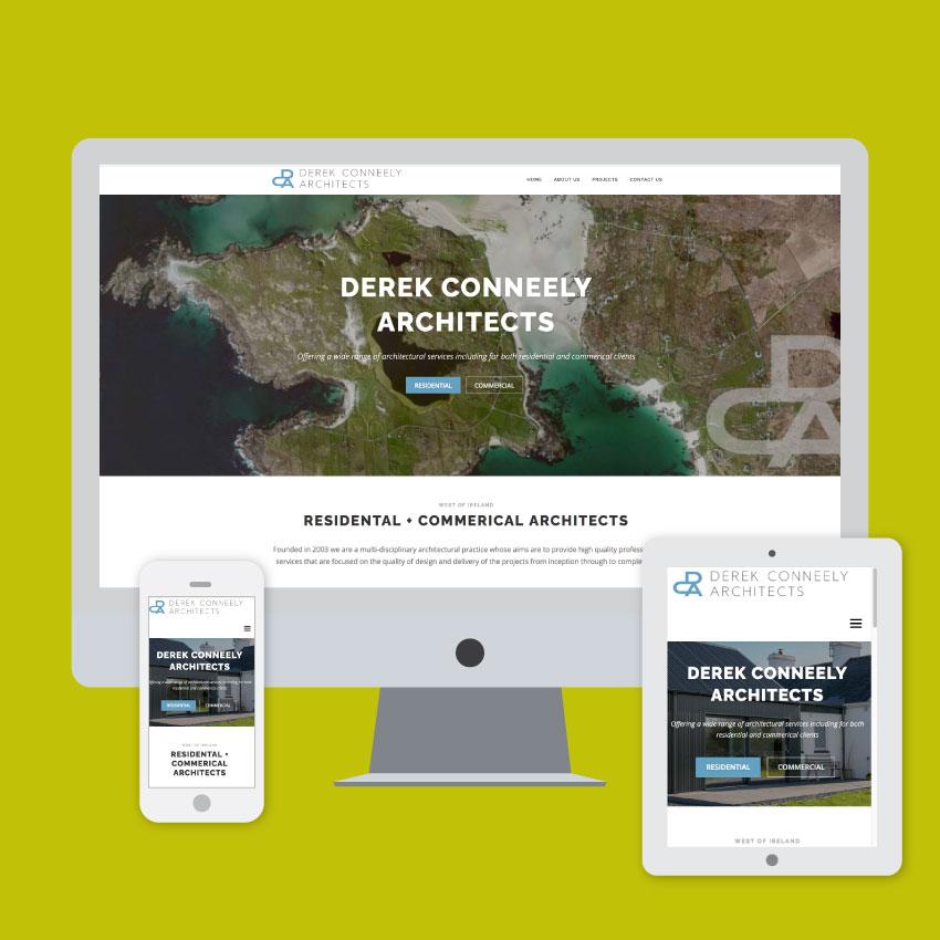 derek conneely website design