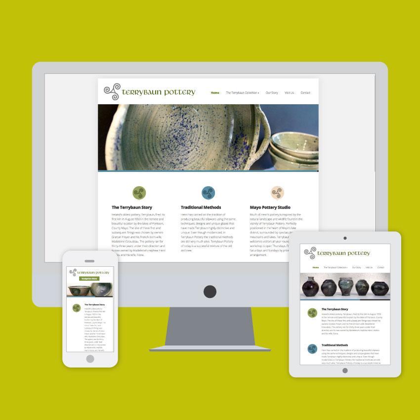 terrybaun pottery website