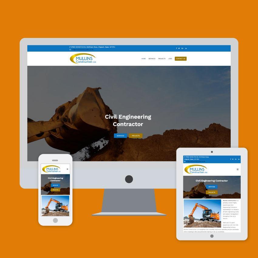 mullins construction website